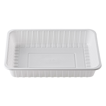 30392 100 pz vassoi gastronomia 330x250x55 mm 3400 ml 66 g PS bianco 66g
