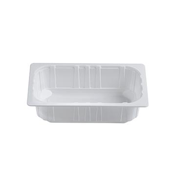 30400 75 pz vassoi gastronomia termosaldabili 262,5x161,25x70 mm 2000 ml 30 g PPC bianco 30g