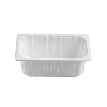 30401 68 pz vassoi gastronomia termosaldabili 262,5x161,25x95 mm 3000 ml 50 g PPC bianco 50g