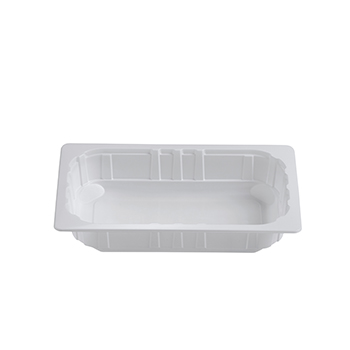 30402 80 pz vassoi gastronomia termosaldabili 262,5x161,25x50 mm 1500 ml 25 g PPC bianco 25g
