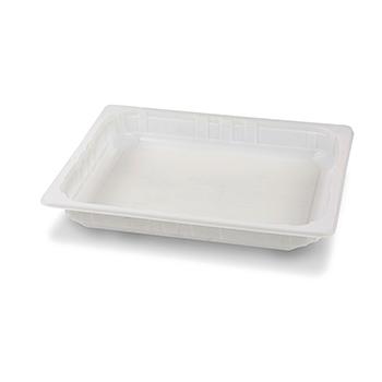 30421 65 pz vassoi gastronomia termosaldabili 320x265x40 mm 2500 ml 65 g PPC bianco 65g