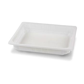 30422 65 pz vassoi gastronomia termosaldabili 320x265x50 mm 3300 ml 65 g PPC bianco 65g