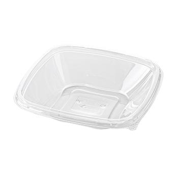 30463 70 pcs deli-food containers 191x191x45 mm 600 ml 16 g RPET transparent