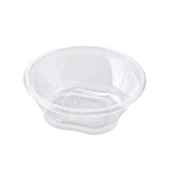 30466 55 pcs deli-food containers diam. 127 mm 350 ml 6,6 g RPET transparent