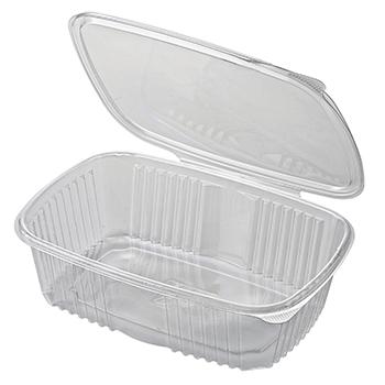 30513 50 pz vassoi gastronomia clamshell 250x175x70 mm 2000 ml 40,3 g RPET trasparente 40,300g
