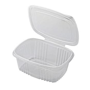 30613 50 pz vassoi gastronomia clamshell 185x135x60 mm 1000 ml 21,14 g PP trasparente 21,140g