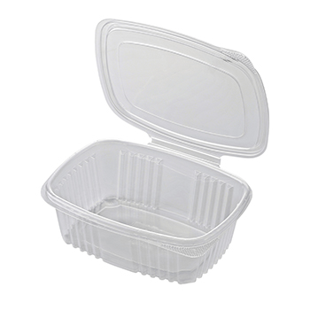 30611 50 pcs deli-food hinged lid containers 185x135x45 mm 750 ml 21,14 g PP transparent