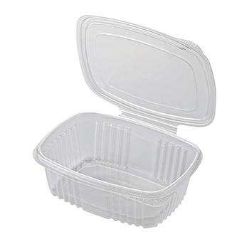 30611 50 pz vassoi gastronomia clamshell 185x135x45 mm 750 ml 21,14 g PP trasparente 21,140g