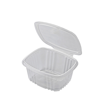 30614 50 pcs deli-food hinged lid containers 135x125x50 mm 500 ml 11,92 g PP transparent