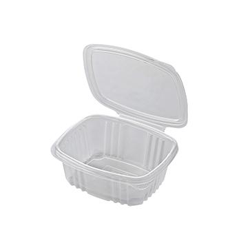30610 50 pz vassoi gastronomia clamshell 125x115x50 mm 370 ml 9,91 g PP trasparente 9,910g