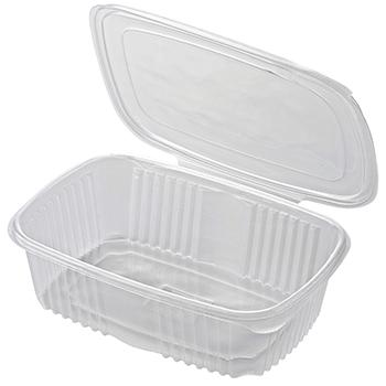 30615 50 pz vassoi gastronomia clamshell 185x185x85 mm 2000 ml 32,31 g PP trasparente 32,310g
