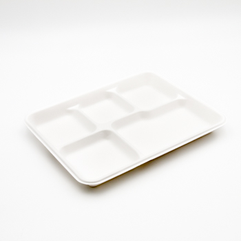 30570 50 pcs meal trays 265x215x25 mm 25 g PULP white