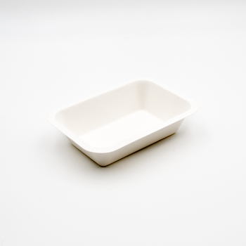 30572 50 pcs meal trays 173x122x40 mm 10 g PULP white