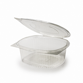 30582 50 pcs deli-food hinged lid containers 208x182x76 mm 1500 ml 37,5 g RPET transparent a