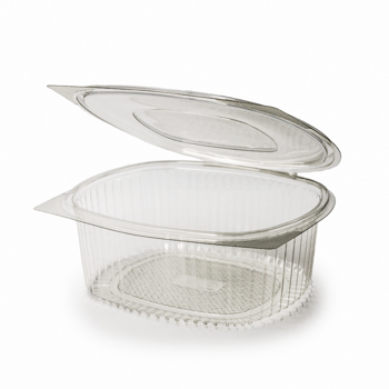 30583 50 pcs deli-food hinged lid containers 225x198x83 mm 2000 ml 48 g RPET transparent a