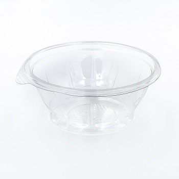 30585 50 pcs deli-food containers diam. 166 mm 600 ml 9,9 g RPET transparent