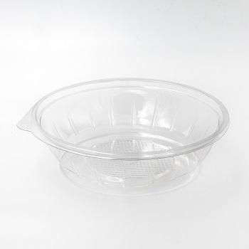 30587 50 pcs deli-food containers diam. 218 mm 1000 ml 17 g RPET transparent