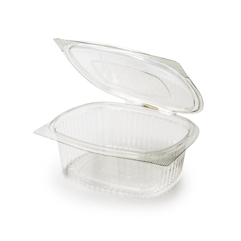 30590 50 pcs deli-food hinged lid containers 172x144x62 mm 750 ml 25,5 g RPET transparent a