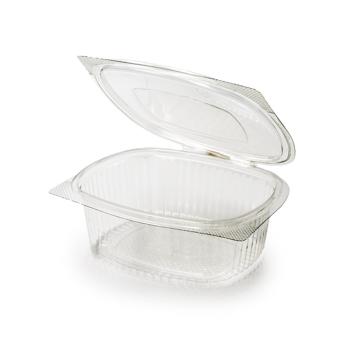 30590 50 pz vassoi gastronomia clamshell 172x144x62 mm 750 ml 25,5 g RPET trasparente a