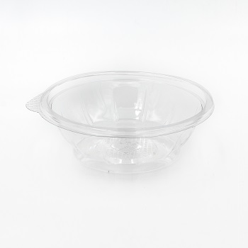 30602 50 pcs deli-food containers diam. 166 mm 500 ml 9,6 g RPET transparent