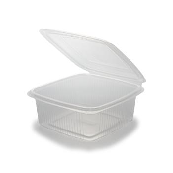 30612 50 pz vassoi gastronomia clamshell 185x185x70 mm 1500 ml 29,37 g PP trasparente