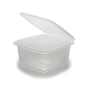 30615 50 pz vassoi gastronomia clamshell 185x185x85 mm 2000 ml 32,31 g PP trasparente