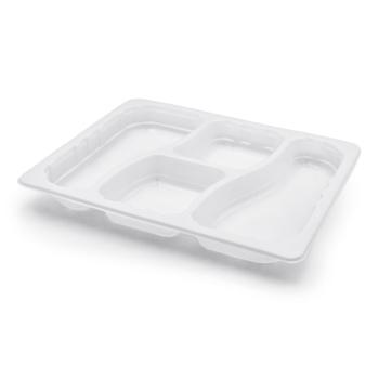 30660 70 pcs heat sealable trays 320x265x35 mm 2500 ml 50 g PP white