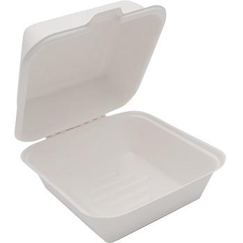 30670 50 pz vassoi gastronomia clamshell 155x155x77 mm 450 ml 24 g PULP bianco