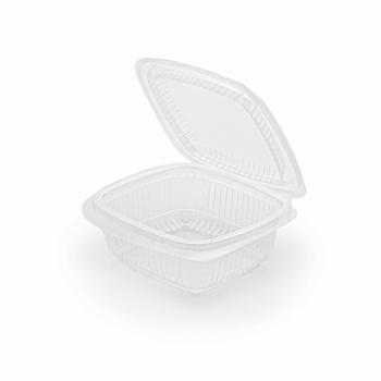 30678 100 pz vassoi gastronomia clamshell 120x115x44 mm 250 ml 7,5 g PP trasparente