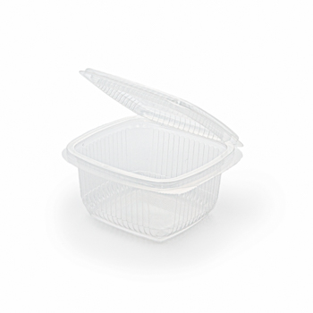 30679 100 pz vassoi gastronomia clamshell 120x115x62 mm 370 ml 9,3 g PP trasparente