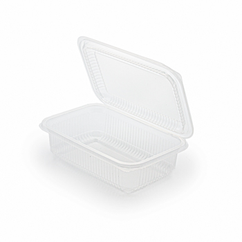 30681 50 pz vassoi gastronomia clamshell 190x130x55 mm 750 ml 16,5 g PP trasparente