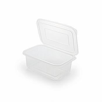 30682 50 pz vassoi gastronomia clamshell 190x130x73 mm 1000 ml 19,5 g PP trasparente