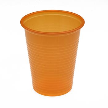 60440 50 pz bicchieri diam. 70 mm 200 ml 2,6 g PP arancione