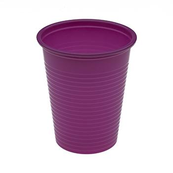 60446 50 pz bicchieri diam. 70 mm 200 ml 2,6 g PP lilla