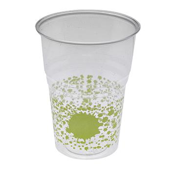 60453 10 pz bicchieri diam. 72 mm 250 ml 6 g PS verde