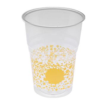 60454 10 pcs gobelets diam. 72 mm 250 ml 6 g PS jaune