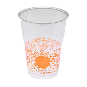 60455 10 pz bicchieri diam. 72 mm 250 ml 6 g PS arancione