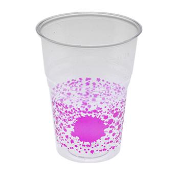 60459 10 pz bicchieri diam. 72 mm 250 ml 6 g PS lilla
