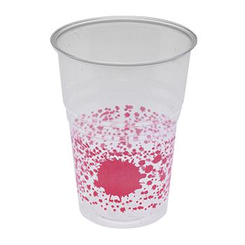 60470 10 pz bicchieri diam. 72 mm 250 ml 6 g PS rosa