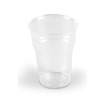 60495 50 pz bicchieri diam. 85 mm 350 ml 6,3 g PP trasparente