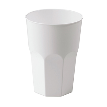 60642 20 st trinkbecher diam. 85 mm 400 ml 19,86 g PP weiß