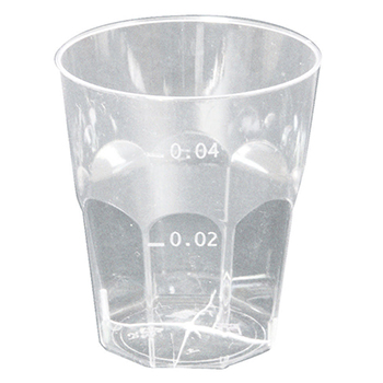 60093 50 pcs cups diam. 46 mm 50 ml 3,8 g PS transparent