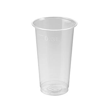 61223 50 pz bicchieri diam. 78 mm 350 ml 7,5 g PET trasparente