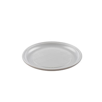 70081 50 pcs assiettes plates diam. 210 mm 16 g PLA blanc