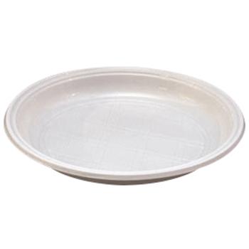 70103 50 pz piatto unico diam. 210 mm 12 g PP bianco