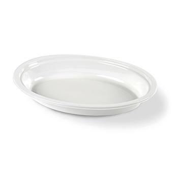 70177 50 pz piatti fondi ovali 260x190x35 mm 16 g PP bianco