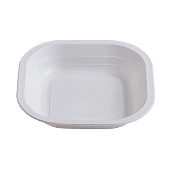 Singolo pezzo di 50 pz piatti fondi quadrati 180x180x35 mm 11,5 g PP bianco