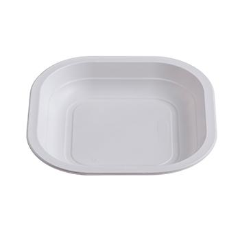 Singolo pezzo di 50 pz piatti piani quadrati 180x180x25 mm 13,5 g PP bianco