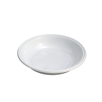70433 12 pcs assiettes creuses diam. 210 mm 16 g PLA blanc