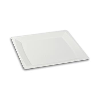 70436 12 pz piatti piani quadrati 235x235x13,5 mm 63 g PS bianco